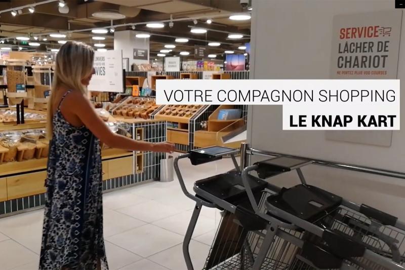 Les chariots Knap vont être testés au point de vente de Monoprix à #Paris Montparnasse !